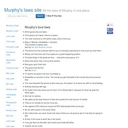 Murphy Laws Site - Love Laws