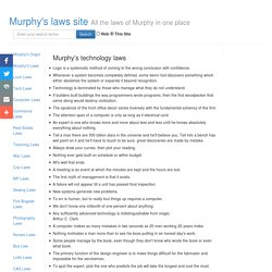 Murphy Laws Site - Technology Laws