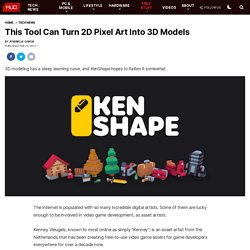 This Tool Can Turn 2D Pixel Art Into 3D Models