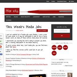 This Week's Media Jobs