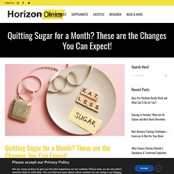 What Will Happen If You Give Up Sugar for a Month?