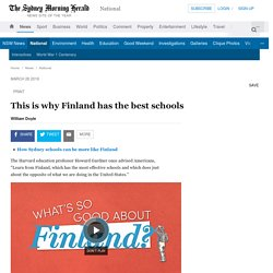 This is why Finland has the best schools