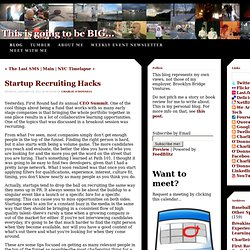 - This is going to be BIG! - Startup RecruitingHacks