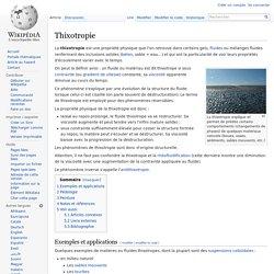 Thixotropie