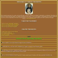 Thomas d'Aquin en français