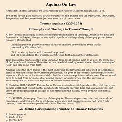 Thomas Aquinas on Law