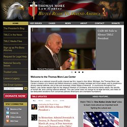 Thomas More Law Center - Home Page