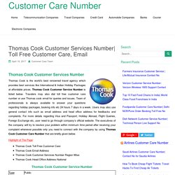 Thomas Cook Customer Services Number