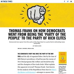 Thomas Frank on How Democrats Went From Being the 'Party of the People' to the Party of Rich Elites