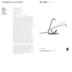Drawing Lamp - Thomas Feichtner