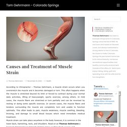 Causes and Treatment of Muscle Strain