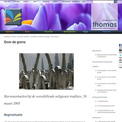 Over de grens - Thomas - Godsdienstonderwijs.be