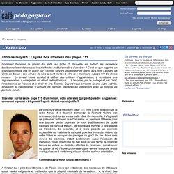 Thomas Guyard : Le juke box littéraire des pages 111...