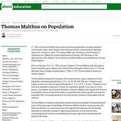 Thomas Malthus on Population