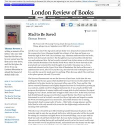 Thomas Powers reviews 'The Voice Is All' by Joyce Johnson · LRB 25 October 2012