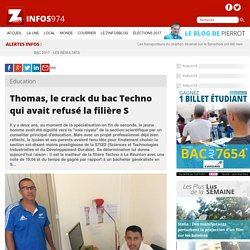 Thomas, le crack du bac Techno qui avait refusé la filière S
