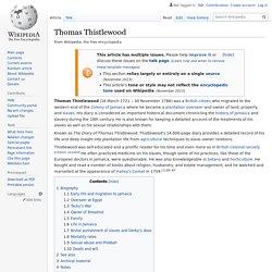 Thomas Thistlewood