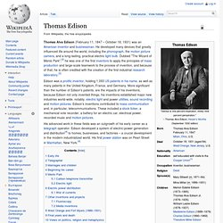 Thomas Edison - Wikipedia, the free encyclopedia