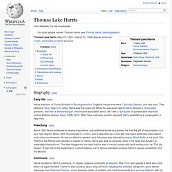 Thomas Lake Harris