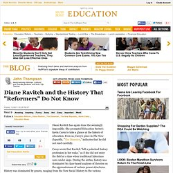 "John Thompson: Diane Ravitch and the History That ""Reformers"" Do Not Know"