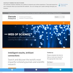 Web of Knowledge - Science - Thomson Reuters