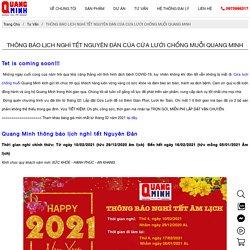 Thông báo lịch nghỉ tết Nguyên Đán cửa lưới chống muỗi Quang Minh