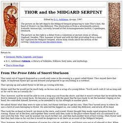 Thor y la serpiente de Midgard