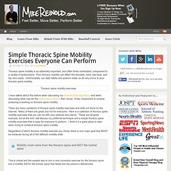 Simple Thoracic Spine Mobility Exercises Everyone Can Perform