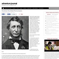 The AJ List: The 21 Best Thoreau Quotes