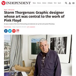 Storm Thorgerson: Graphic designer whose art was central to the work of Pink Floyd