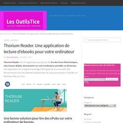 Thorium Reader. Une application de lecture d'ebooks pour votre ordinateur