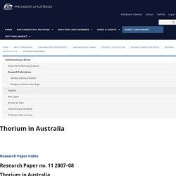 Thorium in Australia