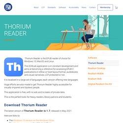 Thorium Reader – Liseuse pour livres au format EPUB