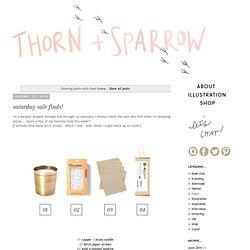 thorn + sparrow: home