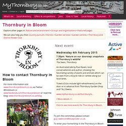Thornbury in Bloom - MyThornbury