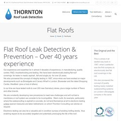 Premium Flat Roof Leak Detection in UK