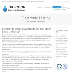 Flat Roof Leak Detection in UK by Electronic Testing Methods