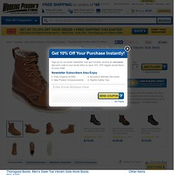 Thorogood Boots: Men's Steel Toe Vibram Sole Work Boots 804-4200 - 6 Inch Steel Toe Boots - Men's Steel Toe Boots - Footwear