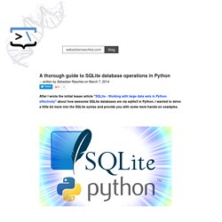 A thorough guide to SQLite database operations in Python