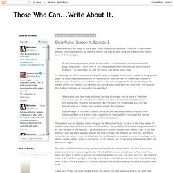 Those Who Can...Write About It.