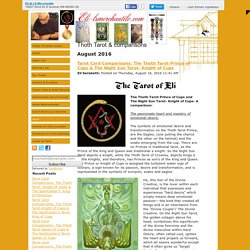 Thoth Tarot & comparisons
