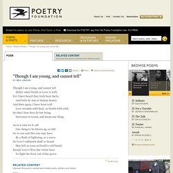 Though I Am Young and Cannot Tell by Ben Jonson : The Poetry Foundation - StumbleUpon