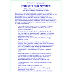 Thoughtful and inspirational stories