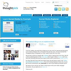 Thoughtpick | The Learn Social Media by Example e-Magazine