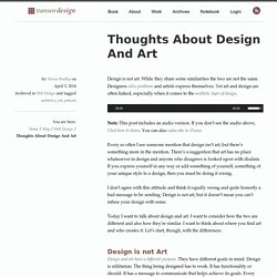 Thoughts About Design And Art - Vanseo Design