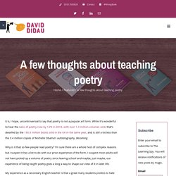 A few thoughts about teaching poetry