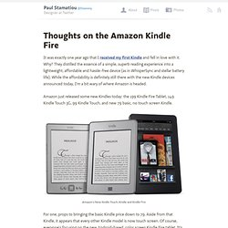 Thoughts on the Amazon Kindle Fire