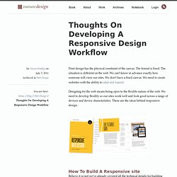Thoughts On Developing A Responsive Design Workflow