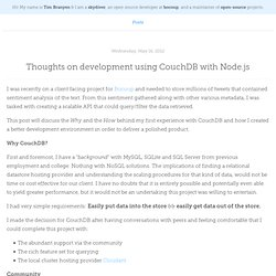 Thoughts on development using CouchDB with Node.js