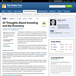 43 Thoughts About Investing and the Economy